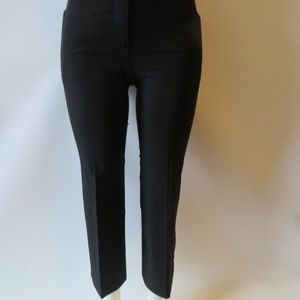 THEORY BLACK ZIP-UP PANTS SZ: 0 *